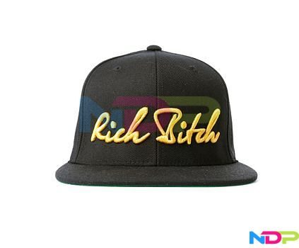 RICH BITCH SNAPBACK GOLD CAP