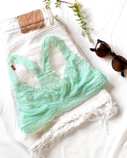 e7c6e19b52 BE CHICK - Menthol lace bra Dressy Anemone USA - Anemone USA - Krajkové -  Lingerie - Bralettes