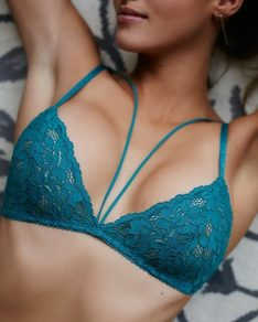 Emerald Teal lace bra Love BeChick ❤