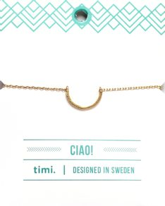 MAKE A WISH series: Gold Half Circle Card Bracelet