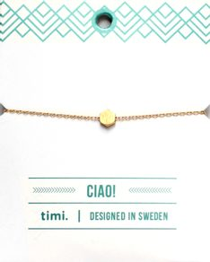 MAKE A WISH series: Gold Hexagon Card Bracelet