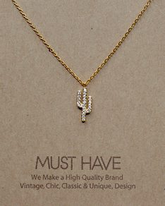 MUST HAVE series: Gold Delicate Cactus