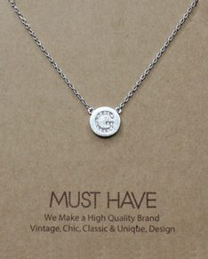 MUST HAVE series: Initial Silver Necklace Letter G
