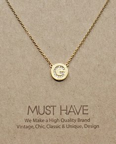 MUST HAVE series: Initial Gold Necklace Letter G