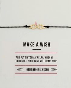 MAKE A WISH series: Black Infinity Gold Silk Bracelet