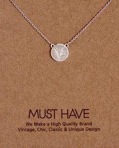 MUST HAVE series: Initial Silver Necklace Letter V