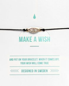 MAKE A WISH series: Black Evil Eye Silk Bracelet