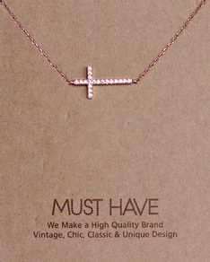 MUST HAVE series: Rose Gold Crystal Cross Pendant