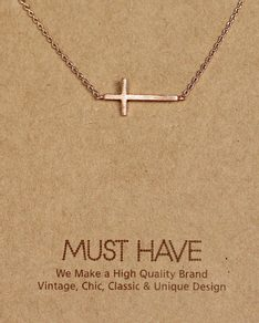 MUST HAVE series: Delicate Rose Gold Cross Pendant