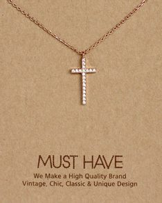 MUST HAVE series: Rose Gold Crystal Cross