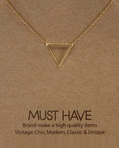 MUST HAVE series: Gold Triangle