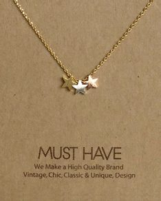 MUST HAVE series: Gold 3 Stars Pendant