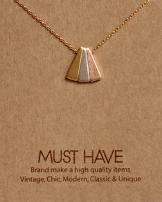 MUST HAVE series: Colored Triangle Pendant