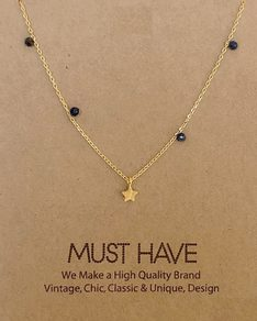 MUST HAVE series: Gold Navy Pearl Star