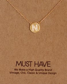 MUST HAVE series: Initial Gold Necklace Letter N