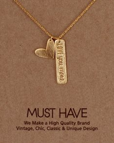 MUST HAVE series: Gold Love Pendant