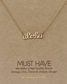 MUST HAVE series: Gold Aloha Aina