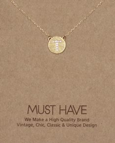 MUST HAVE series: Initial Gold Necklace Letter T