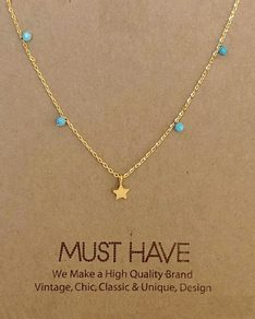 MUST HAVE series: Gold Turquoise Pearl Star