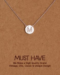 MUST HAVE series: Initial Silver Necklace Letter M