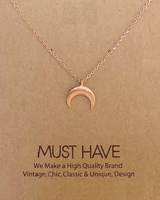 MUST HAVE series: Rose Gold Crescent Moon Pendant