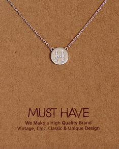 MUST HAVE series: Initial Silver Necklace Letter H