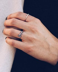 MUST HAVE series: Silver Ring LOVE