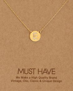 MUST HAVE series: Initial Gold Necklace Letter E