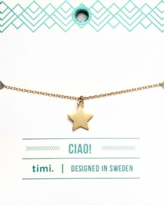 MAKE A WISH series: Gold Star Card Bracelet