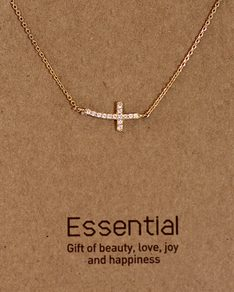 MUST HAVE series: Gold Round Crystal Cross