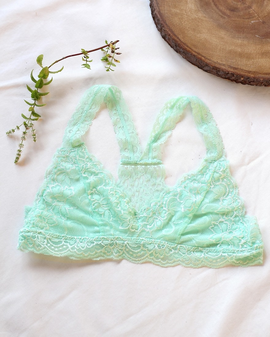 75ff73d27f BE CHICK - Menthol lace bra Dressy Anemone USA - Anemone USA ...