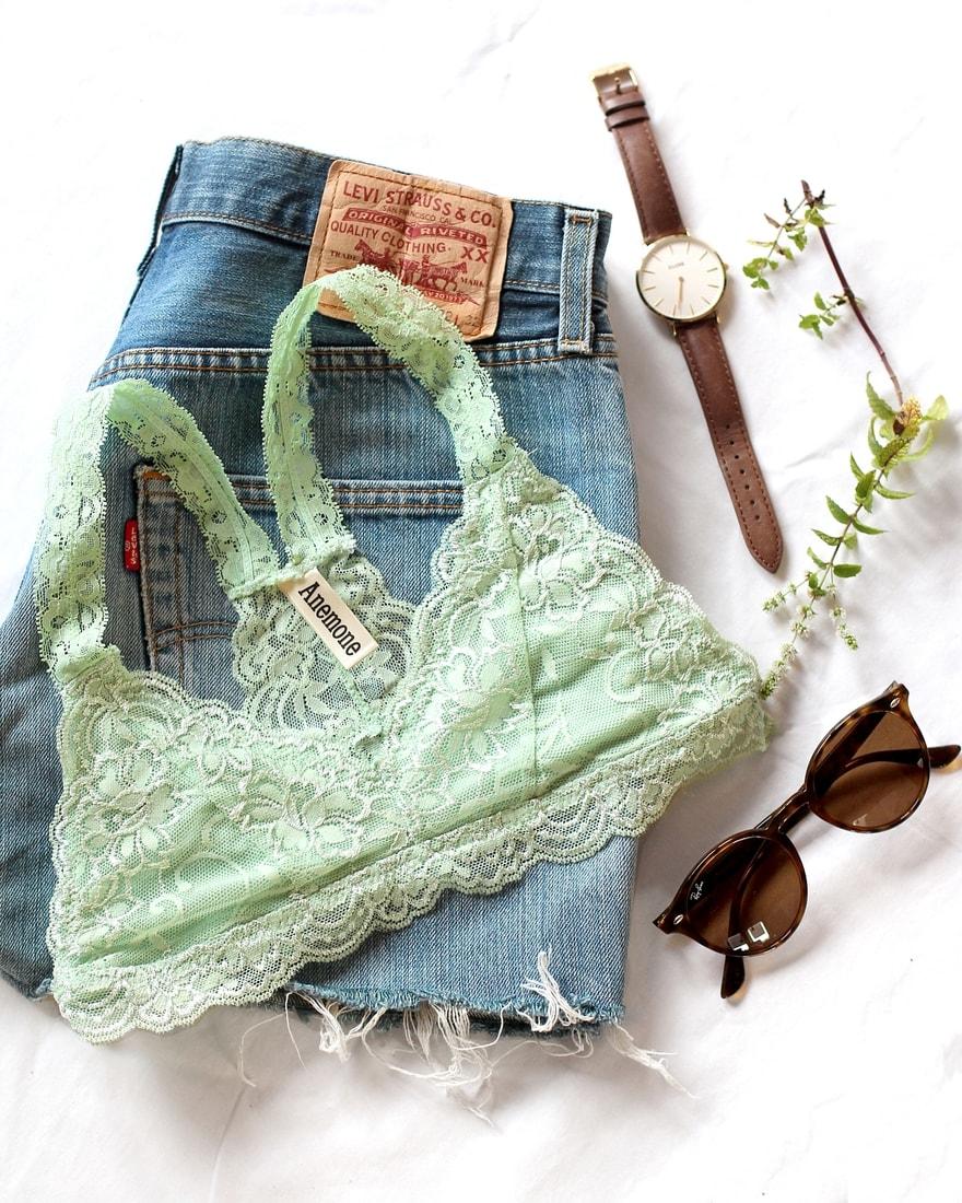 b1d35acf39 BE CHICK - Mint lace bra Dressy Anemone USA - Anemone USA - Krajkové ...