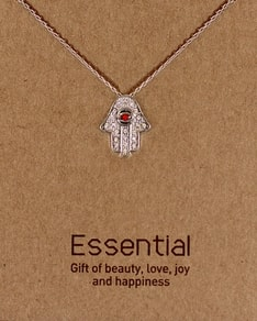 MUST HAVE series: Silver Red Crystal Hamsa