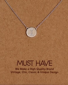 MUST HAVE series: Initial Silver Necklace Letter I