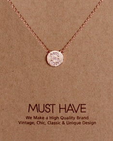 MUST HAVE series: Initial Rose Gold Necklace Letter S