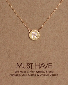 MUST HAVE series: Initial Gold Necklace Letter R