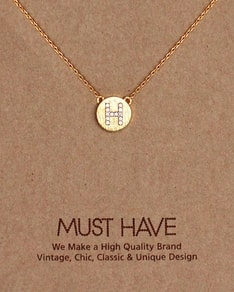 MUST HAVE series: Initial Gold Necklace Letter H