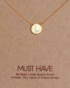 MUST HAVE series: Initial Gold Necklace Letter L