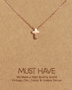 MUST HAVE series: Delicate Rose Gold Cross