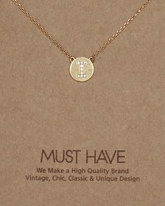 MUST HAVE series: Initial Gold Necklace Letter I