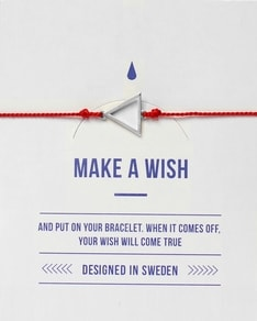 MAKE A WISH series: Red Triangle Silver Silk Bracelet