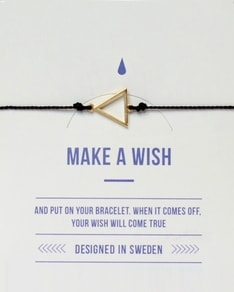 MAKE A WISH series: Black Triangle Gold Silk Bracelet
