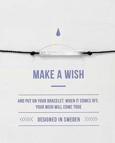 MAKE A WISH series: Black Bar Silver Silk Bracelet