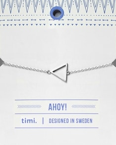 MAKE A WISH series: Silver Triangle Card Bracelet