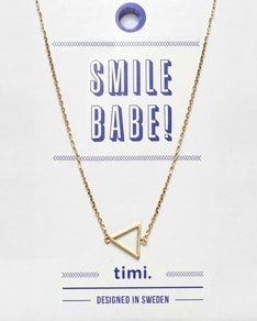MAKE A WISH series: Gold Triangle Card Necklace