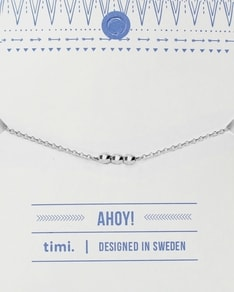 MAKE A WISH series: Silver 3 Ball Card Bracelet