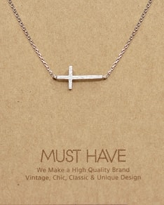 MUST HAVE series: Delicate Silver Cross Pendant