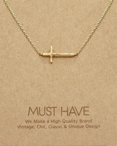 MUST HAVE series: Delicate Gold Cross Pendant