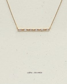 MUST HAVE series: Gold Cubic Zirconia Tube