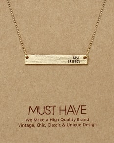 MUST HAVE series: Gold Plate Best Friends